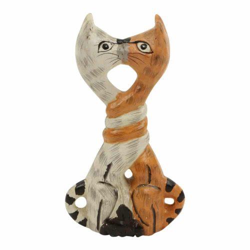 Kussende Houten Katten M