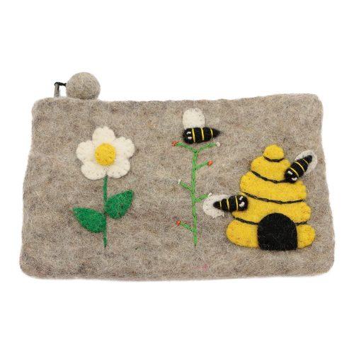 Vilten Potlood- Pennentasje Bijen