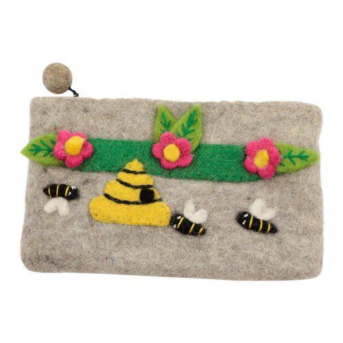 Vilten Potlood- Pennentasje Bloemen en Bijen