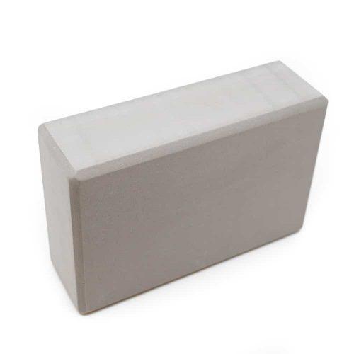 Spiru Yoga Blok EVA-Schuim Grijs Rechthoekig - 22 x 15 x 7.5 cm