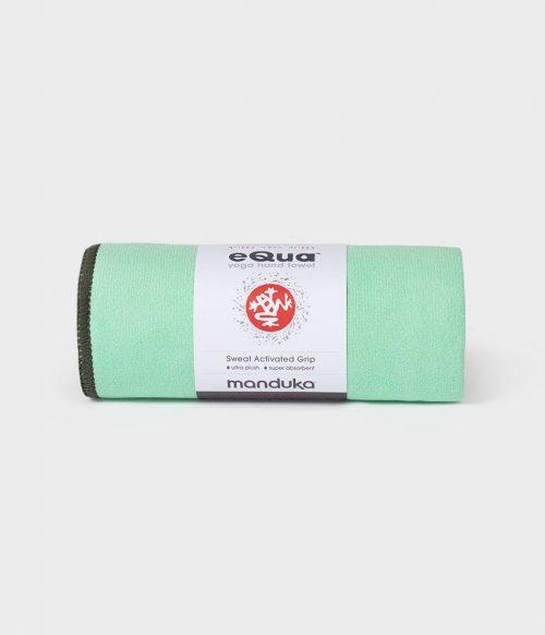 Manduka eQua Yoga Handdoek - Green Ash (Klein)