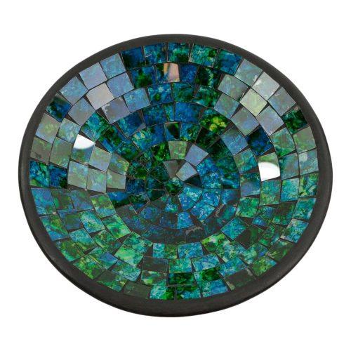 Kom Mozaïek Groen-Blauw (21 cm)