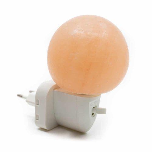 Zoutsteen Nachtlampje Oranje Bol