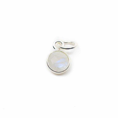 Geboortesteen Hanger Juni Maansteen 925 Zilver (6 mm)