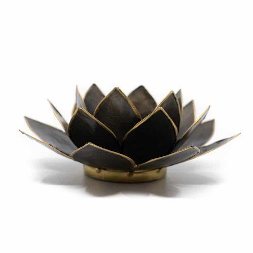 Lotus Sfeerlicht Zwart Goudrand