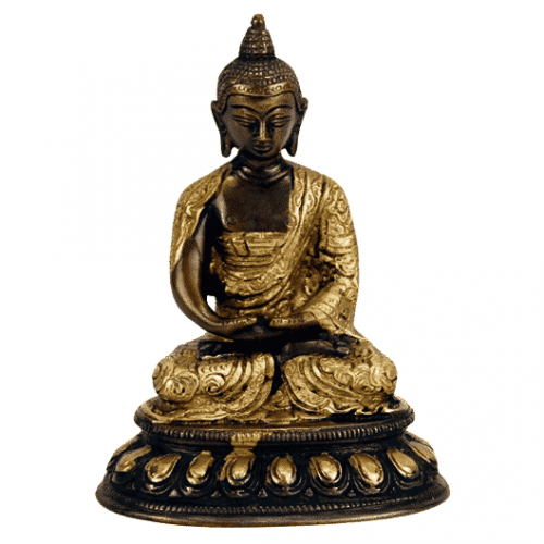 Japanse Boeddha Beeld Messing Amithaba - 15 cm
