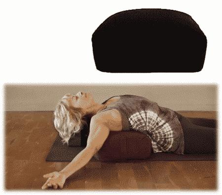 Yogi & Yogini Meditatiekussen Zwart Rechthoekig katoen - Effen - 38 x 28 x 15 cm