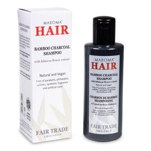 Maroma Bamboe Houtskool Vegan Shampoo Fair Trade (200 ml)