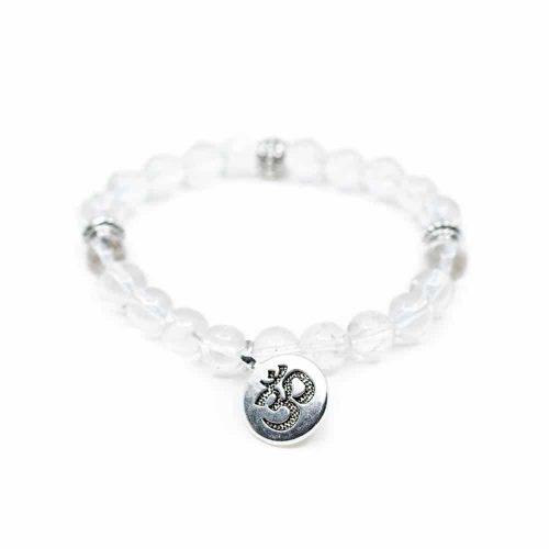 Edelsteen Armband Bergkristal met OHM