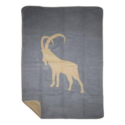 Polyester Plaid / Deken Steenbok (180 x 130 cm)