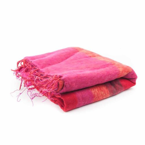 Meditatiedeken XL Rood-Roze-Oranje