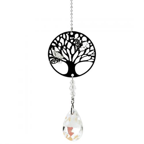 Kristallen Streng met Filigraan Tree of Life Druppel Wit