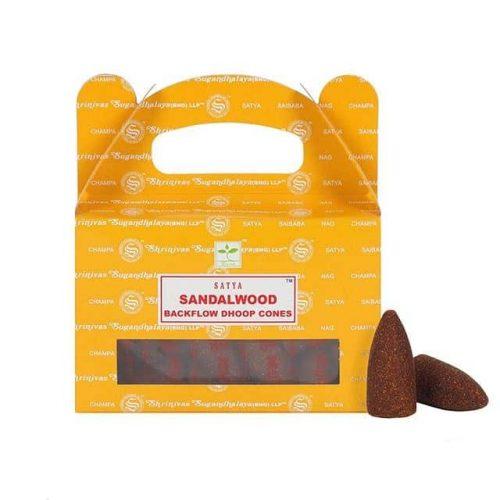 Satya Backflow Wierook Kegels Sandelwood (24 kegels)