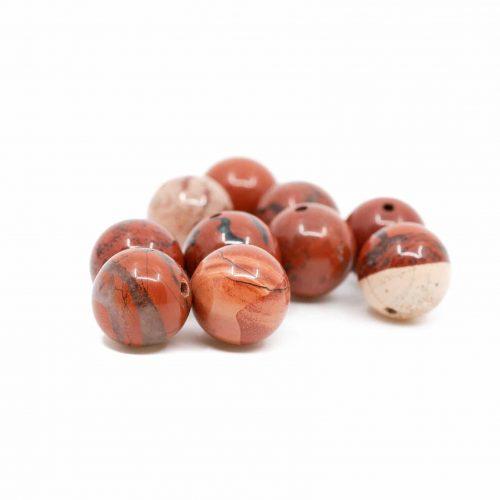 Edelsteen Losse Kralen Rode Jaspis - 10 stuks (10 mm)