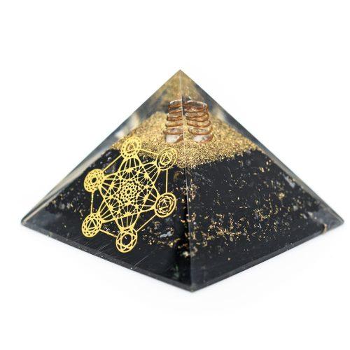Orgonite Pyramide Zwarte Toermalijn - Metatron - (70 mm)