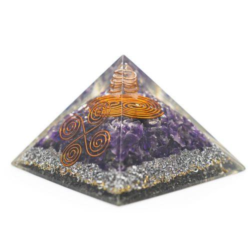 Orgonite Piramide Amethist - Vastu - (70 mm)
