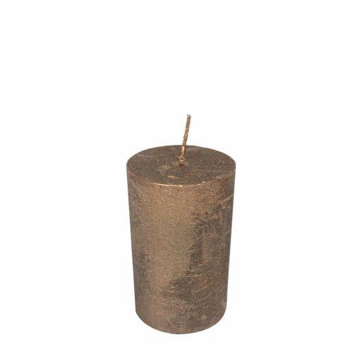 Koperkleurige Stompkaars (8 x 5 cm)
