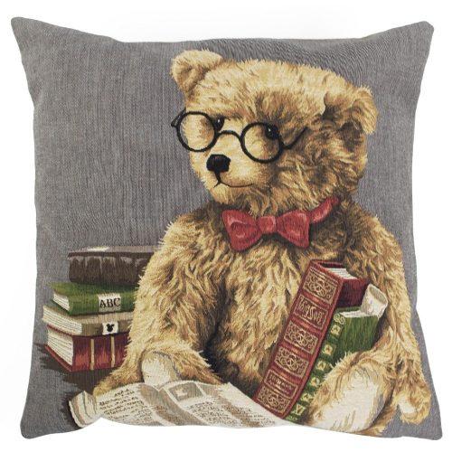 Gobelin Kussen Teddybeer Lezend (45 x 45 cm)